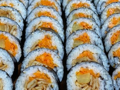 KOREAN SPICY FISH CAKE KIMBAP Recipe | Olive's Cooking #Shorts