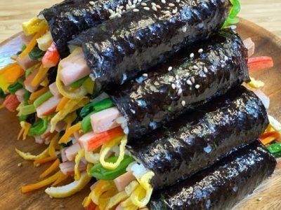 MAYAK KIMBAP | Olive's Cooking | Enjoy with wasabi mustard sauce #Shorts