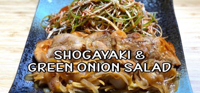 Shogayaki & Green Onion Salad Recipe / Japanese Ginger Pork | Olive's Cooking