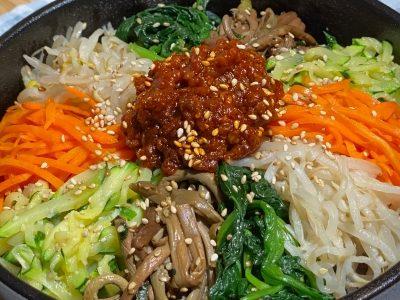 BIBIMBAP Recipe / Korean Dolsot Bibimbap / Skillet Bibimbap | Olive's Cooking #Shorts