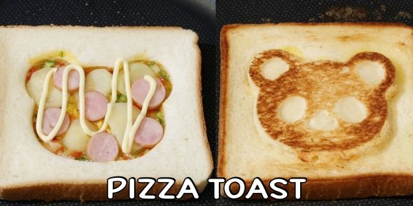 How to make Panda Pizza Toast | Olive's Cooking